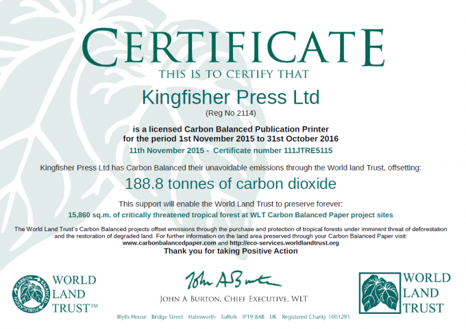 Help the environment with Carbon Balanced Print