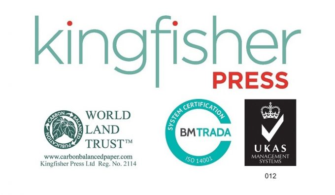 Suffolk Printer Kingfisher Press achieves ISO14001:2015 accreditation.