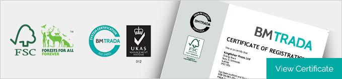Environment - FSC Printer - Kingfisher Press - Suffolk