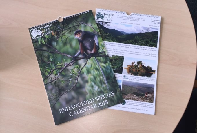 Calendar for World Land Trust sponsored by Kingfisher Press
