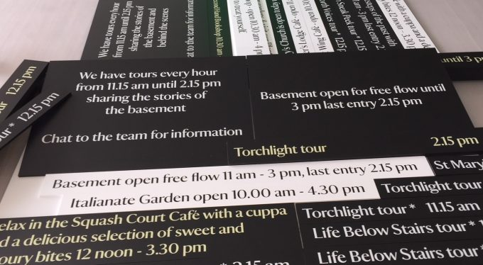 Magnetic Information Signs for National Trust