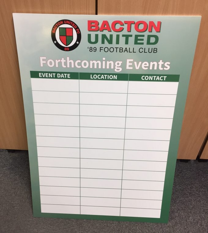 Dry Wipe Boards printed with your Company Logo!