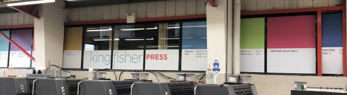 Window Graphic Wide Format Print at Kingfisher Press