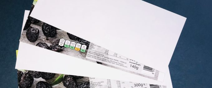 Single sided label paper