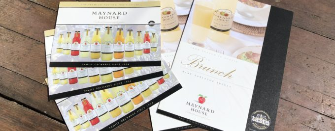 Digital Print & Orchard Pressed Apple Leaflets