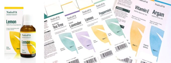 Printed Cartons for a range of Natural Oils